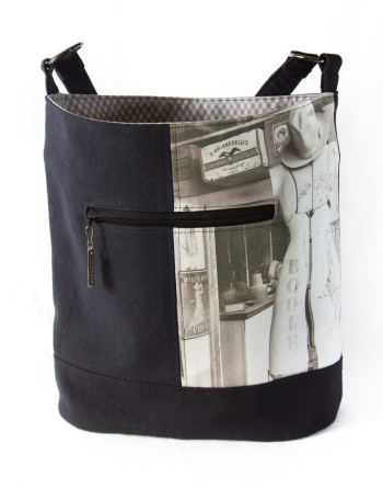 Bodie General Store Mannequin Bucket Bag with black canvas