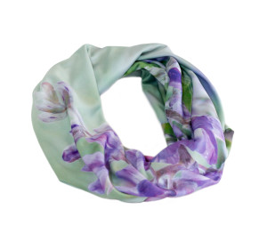 Lupine Infinity scarves looped, handcrafted by Wild Onion Creations