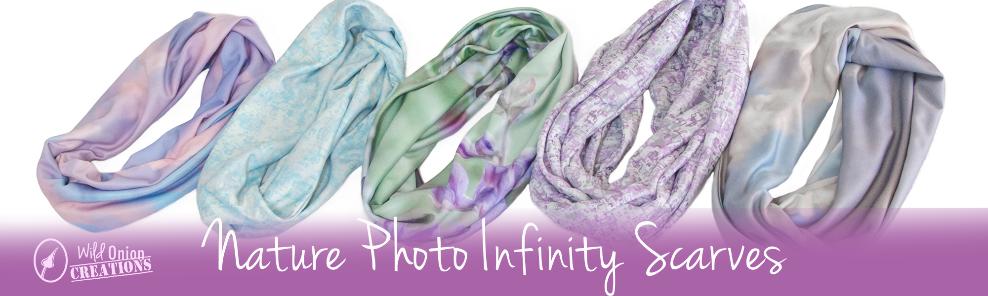wild onion creations photo infinity scarves wildflowers and sky