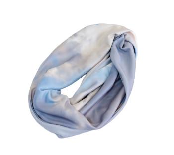 handmade blue skies infinity scarves