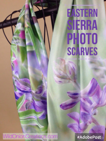 Handmade purple scarves from Eastern Sierra photographs of Lupine wildflowers