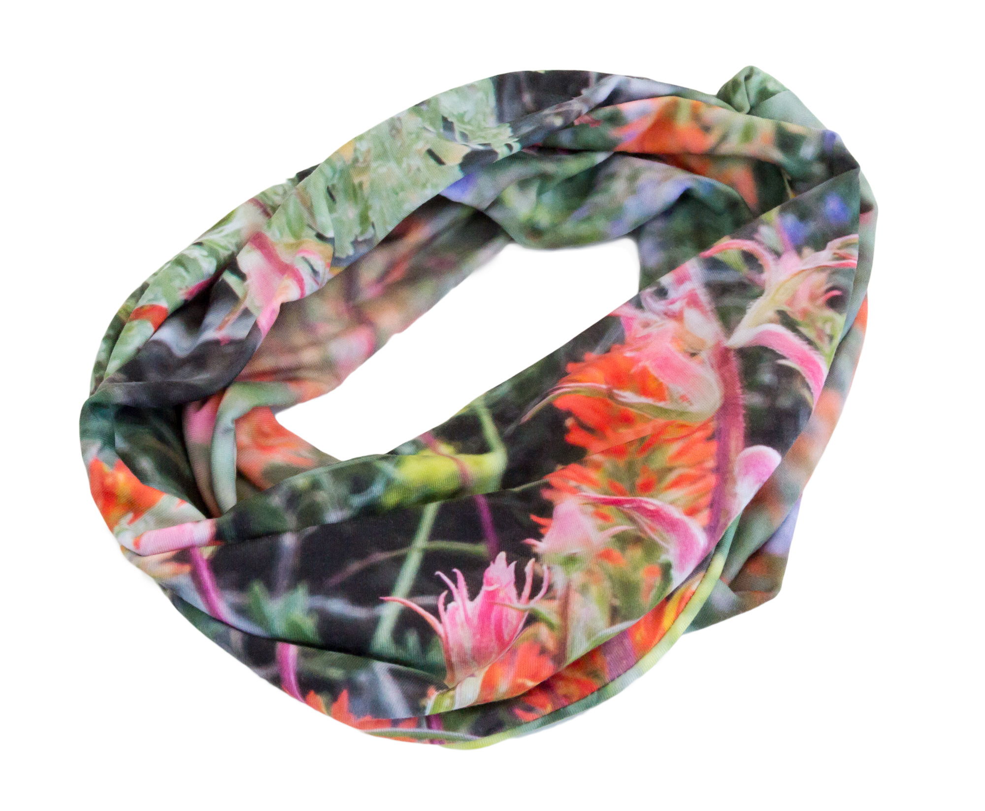 wild onion creations colorful infinity scarf wildflowers