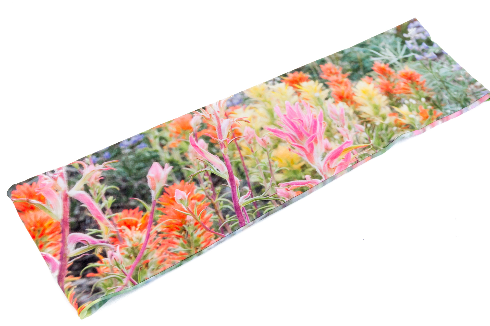 Colorful Infinity Scarf With Sierra Wildflowers