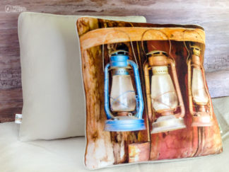 Bodie ghost town firehouse lanterns on handmade home decor throw pillow