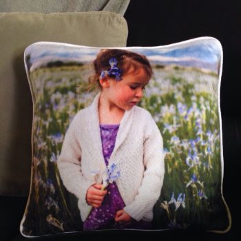 make your own custom photo throw pillows in this Wild Onion Creations sewing workshop