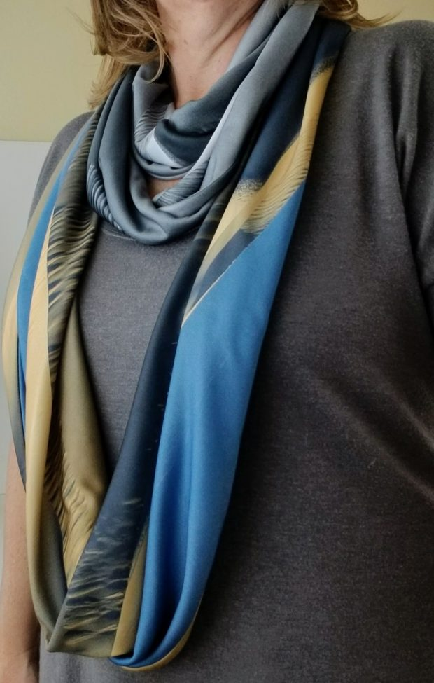 handmade photo infinity scarves by Wild Onion Creations