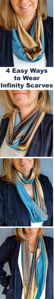 4 ways to wear an infinity scarf | Wild Onion Creations